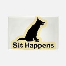 Sit Happens Dog Gifts Rectangle Magnet