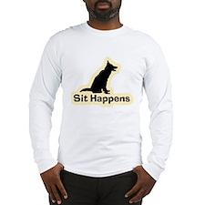 Sit Happens Dog Gifts Long Sleeve T-Shirt