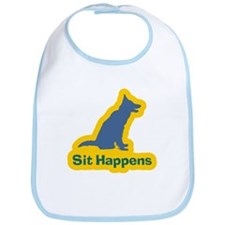 Sit Happens Dog Gifts Bib