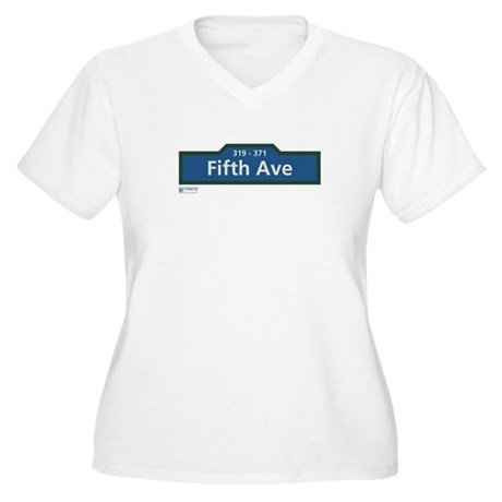 5th Avenue in NY Women's Plus Size V-Neck T-Shirt