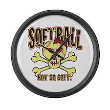 Softball, Not so soft. Large Wall Clock