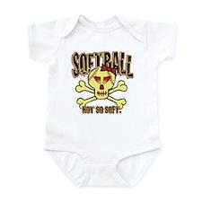 Softball, Not so soft. Infant Bodysuit