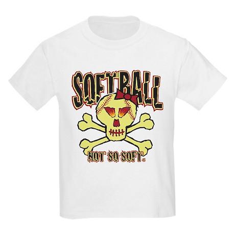Softball, Not so soft. Kids Light T-Shirt