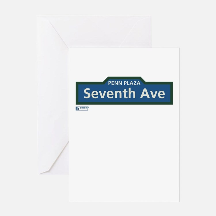 7th Avenue in NY Greeting Card