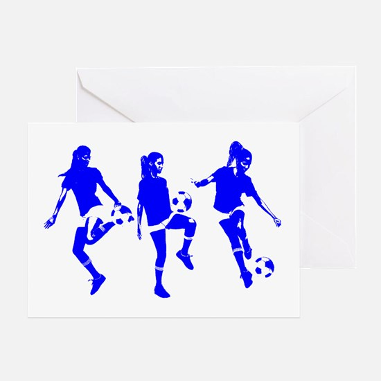 Blue Express Yourself Female Greeting Card