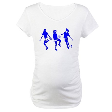 Blue Express Yourself Female Maternity T-Shirt