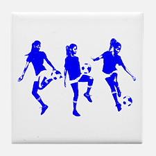 Blue Express Yourself Female Tile Coaster