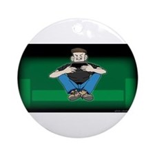 Video Kid Ornament (Round)