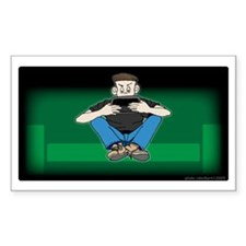 Video Kid Rectangle Decal