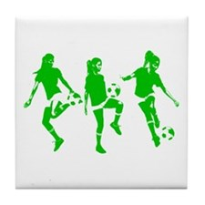 Green express Yourself Female Tile Coaster