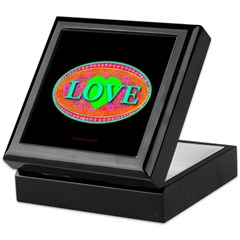 LOVE Exotic Jade Galaxy Heart Keepsake Box