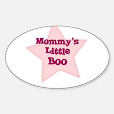 Mommy's Little Boo Oval Decal