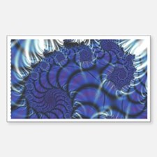 Midnight Flares Fractal Rectangle Decal