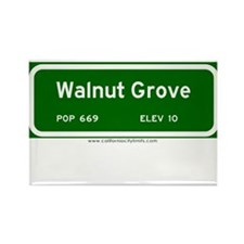 Walnut Grove Rectangle Magnet