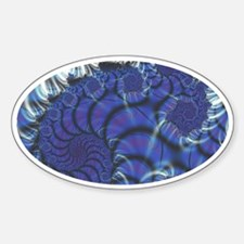 Midnight Flares Fractal Oval Decal