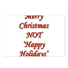 Merry Christmas, NOT 'Happy H Postcards (Package o