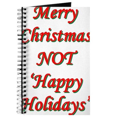 Merry Christmas, NOT 'Happy H Journal