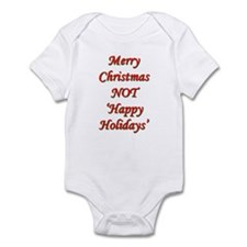 Merry Christmas, NOT 'Happy H Infant Bodysuit