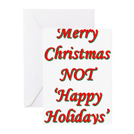 Merry Christmas, NOT 'Happy H Greeting Cards (Pk o
