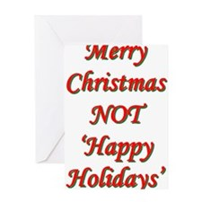 Merry Christmas, NOT 'Happy H Greeting Card