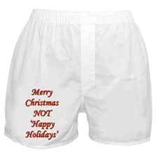 Merry Christmas, NOT 'Happy H Boxer Shorts