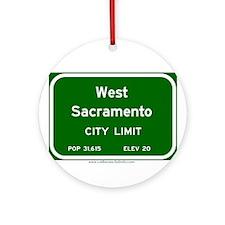 West Sacramento Ornament (Round)