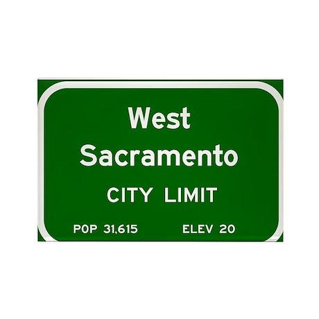 West Sacramento Rectangle Magnet