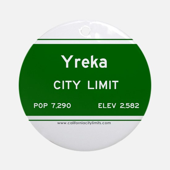 Yreka Ornament (Round)