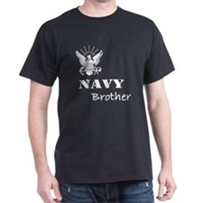 Navy Grunge Brother White Tex T-Shirt