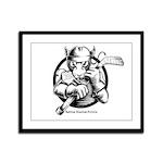 Hockey Rat Framed Panel Print