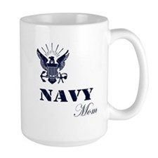 Navy Grunge Mom Mug
