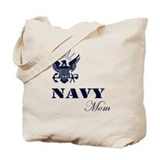 Navy Grunge Mom Tote Bag
