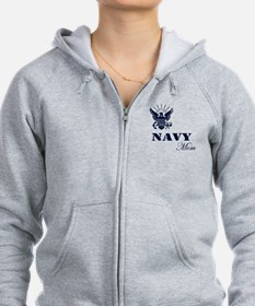 Navy Grunge Mom Zip Hoody