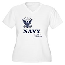 Navy Grunge Mom T-Shirt