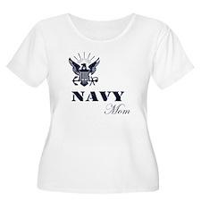 Navy Grunge Mom T-Shirt