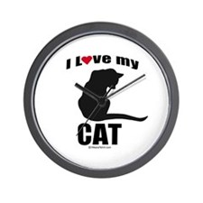 I love my cat ~  Wall Clock