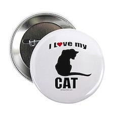 I love my cat ~ Button