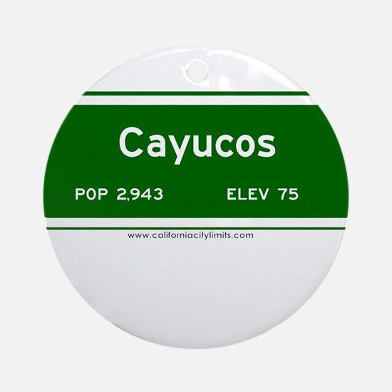 Cayucos Ornament (Round)