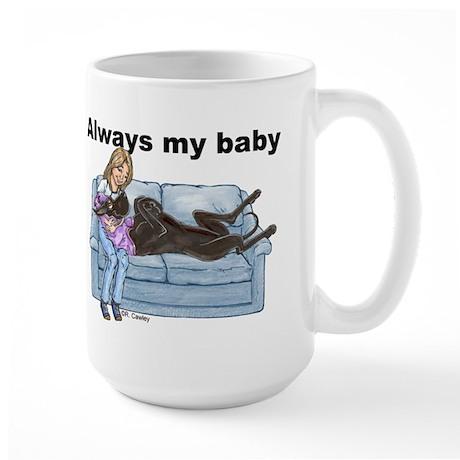 CBlk Always My Baby Large Mug