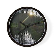 Solstice Sun Wall Clock
