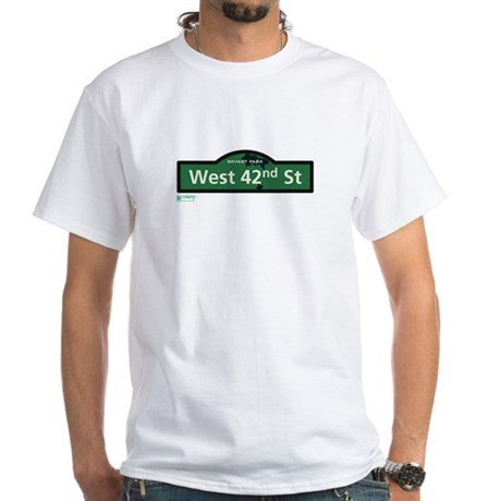 West 42nd Street in NY White T-Shirt