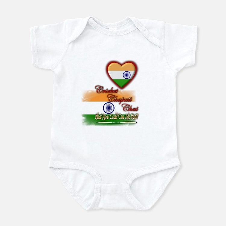Cricket, chapati, chai - Infant Bodysuit