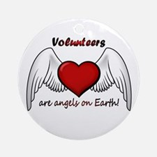 Angel Volunteer Ornament (Round)
