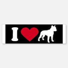 I Love my Pit Bull ~ Bumper Bumper Bumper Sticker