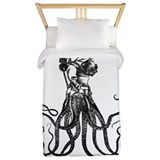 Octopus and diver Luxe Twin Duvet Cover
