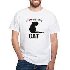 I love my cat ~ White T-shirt