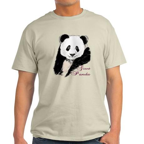 Giant Panda Bear Light T-Shirt