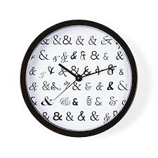 Ampersandz! Wall Clock