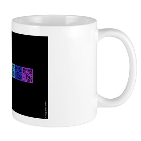 Colours on Black Mug