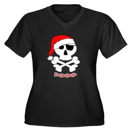 Yo Ho Ho Ho Women's Plus Size V-Neck Dark T-Shirt